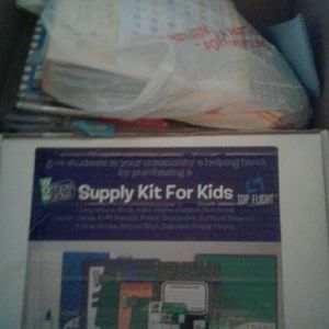 Giant Box of School Supplies